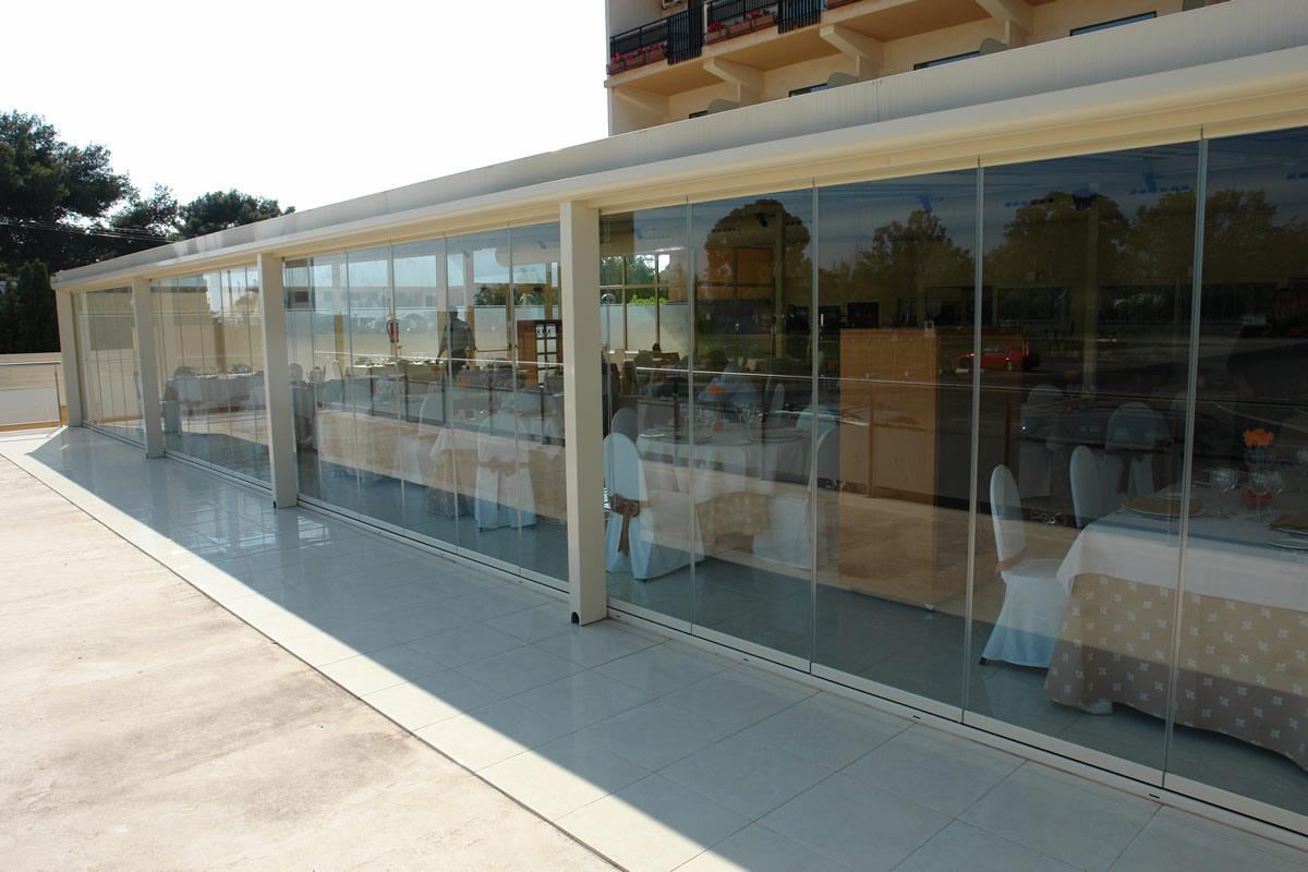 Plegables cristal exterior carpinteria de aluminio - Cerramientos plegables de vidrio ...